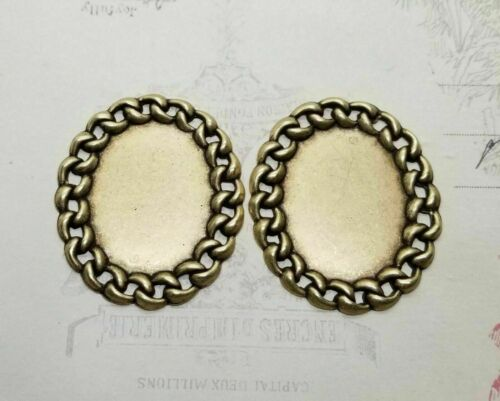 Large Brass Chain Link Finding x 2 - 77CIRAT