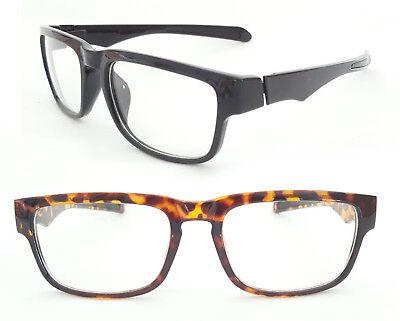 Nerd Brille klassisch medium Hipster Style schwarz matt leo Damen und Herren 131