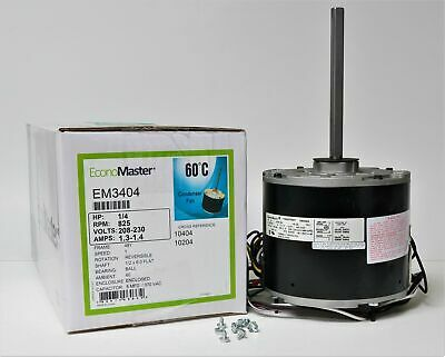 Air Conditioner Condenser Fan Motor 14 Hp 230 Volts 825 Rpm Em-3404