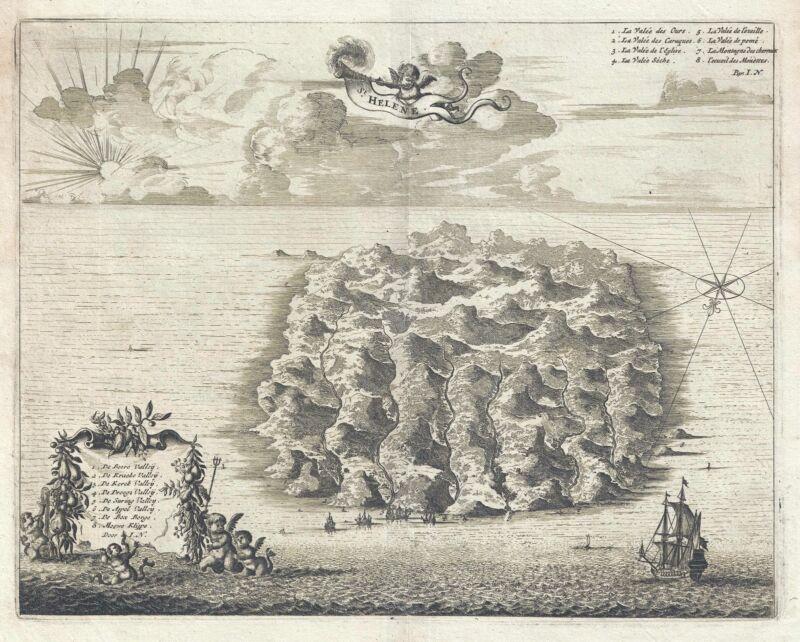 1686 Dapper View of St. Helena Island