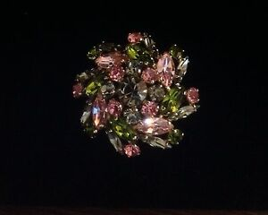 Sherman signed pinwheel design brooch rare colours 100.00 OBO