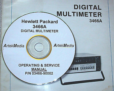 Hp Hewlett Packard 3466a Digital Mulitmeter Operating Service Manual