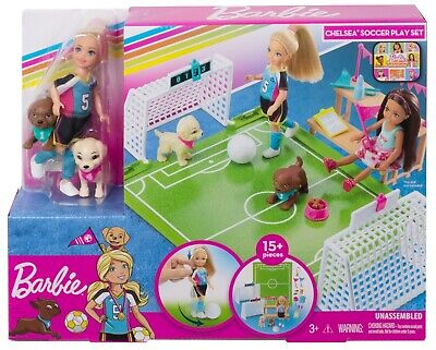 Barbie Dreamhouse Adventures Chelsea Doll With Soccer Playset And Accessories