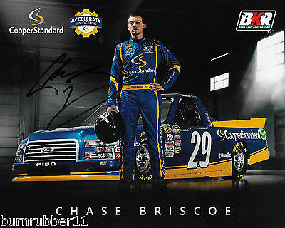 Signed 2017 Chase Briscoe  Cooper Standard   29 Nascar Cwts Truck Postcard