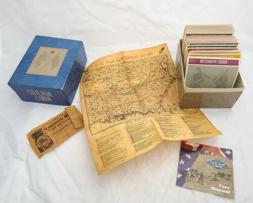 CIVIL WAR CARDS BOX SET, Atlas Editions, dozens of educational cards, map