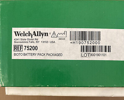 Welch Allyn Ref 75200 Bioto Battery Pack Lumiview Headlight New