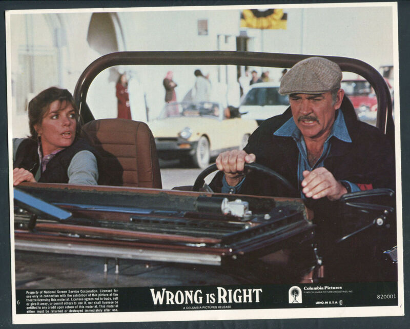 SEAN CONNERY KATHARINE ROSS JEEP VERY RARE Wrong Is Right '82