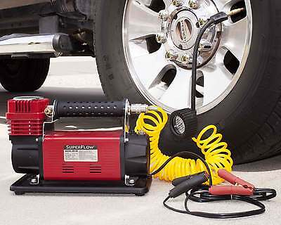SuperFlow 12V HD Air Compressor For Larger Tires Trucks, SUVs, RVs & Tractors