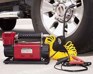 SuperFlow 12V HD Air Compressor Tire Inflator Ideal Trucks, SUVs, RVs & Tractors