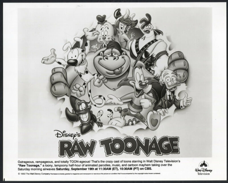 Raw Toonage '92 WALT DISNEY MARSIPULAMI CARTOON ANIMATION
