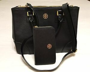 Tory Burch Robinson Double Zip Large wallet set