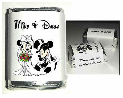 Disney Wedding Favors (120 DISNEY MICKEY AND MINNIE MOUSE WEDDING CANDY WRAPPERS FAVORS)
