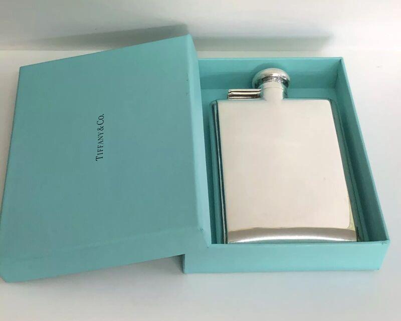 Rare! Vintage Tiffany & Co.  Sterling Silver Whisky Liquor Pocket Flask