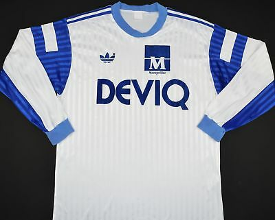 1989-1990 MONTPELLIER ADIDAS HOME FOOTBALL SHIRT (SIZE M) image