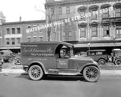 Photograph Vintage Chaconas Grocery Delivery Truck  Washington Dc 1918  8X10