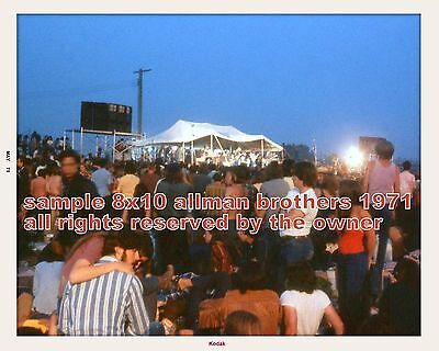 The Allman Brothers Michigan State Fairgrounds May 1971 8 x 10 Only 2 Cool View on Rummage