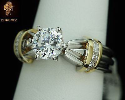NEW / Designer Kristina Diamond engagement / wedding ring . Solid 14K Gold,