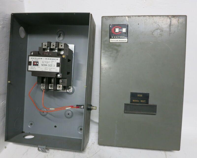 Cutler Hammer C10EG3 Size 3 Enclosed Contactor 90 Amp 120V 60Hz Coil 600V Sz3