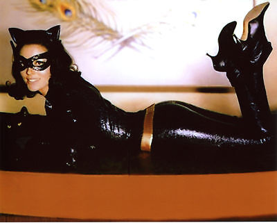 GLOSSY PHOTO PICTURE 8x10 Lee Meriwether Batman Catwoman With Kitty Cat ()