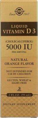 Solgar Liquid Vitamin D3 Cholecalciferol 5000 IU - Natural Orange Flavor 2 oz