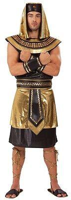 Uomo 6 Pezzi Egiziano Re Anubis + Sandali Storico Costume Vestito
