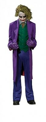 Deluxe Joker Grand Heritage Adult Costume Heath Ledger Batman Villain Size Lg
