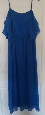 Tacera Royal blue off the shoulder dress size