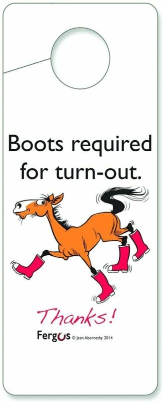 """Fergus Stall Sign - """"Boots Required"""""""