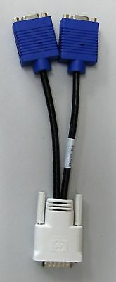 Hp Video Splitter (DMS-59 to dual VGA adapter cable video Y splitter HP Used)
