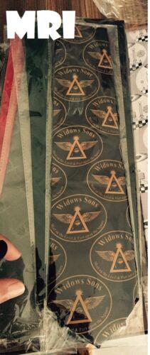 Widows Sons Ties, Masonic Ties , Freemason Ties , TIES, WIDOWS SONS BLACK TIES