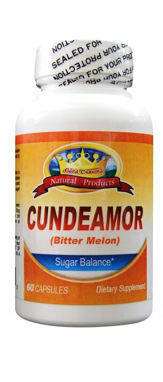 CUNDEAMOR Bitter Melon Diabetic Sugar Balance Dietary Supplement 1000 mg 60 caps
