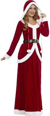 Damen Lang Deluxe Fräulein Claus Santa Weihnachten Kostüm