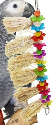 01094 Hula Skirt BIRD TOY parrot toys cages conure african grey cockatiel budgie