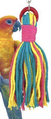 Bonka Bird Toys 1576 Medium Rainbow Rope bird toy conure african grey amazon pet