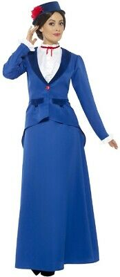Ladies Victorian Nanny Book Day Film Fancy Dress Costume Outfit UK8-26 Plus Size