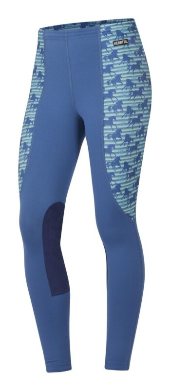 Kerrits Kids Knee Patch Performance Tight - Harbor Striped Horse