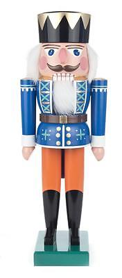 NUßKNACKER König blau 36cm NEU Erzgebirge Füchtner Seiffen Volkskunst Original