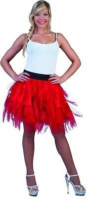 Tüllrock rot Erwachsene zu vielen Kostümen passend Polyester Einheitsgröße Neu ()