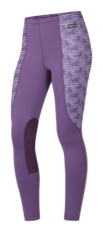 Kerrits Kids Knee Patch Performance Tight - Cassis Striped Horse