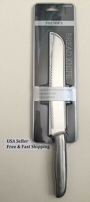 Premier Bread Knife With Cover-Stainless Blade-Easy Cutting