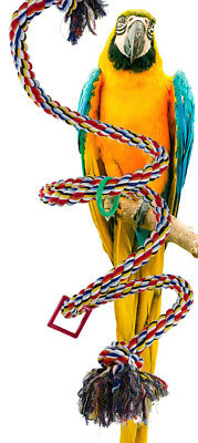 1962 Huge rope boing coil swing perch bird toy parrot cage toys cages macaw