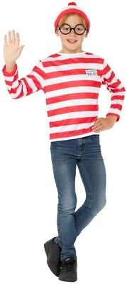 Jungen Mädchen Kinder Where's Wally Waldo Büchertag Kostüm Kleid Outfit Satz