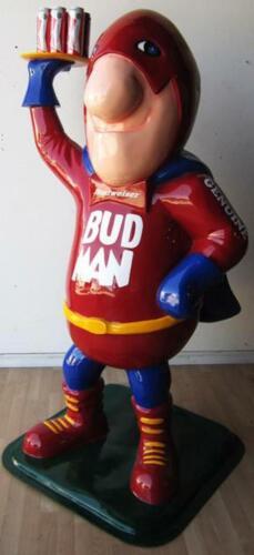 Bud Man Budweiser Beer Statue Advertising Fiberglass Statue (video)