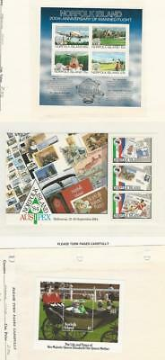 Norfolk Island, Postage Stamp, #313a, 346a, 368 Mint NH, 1983-87 (p)