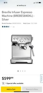 Brand New Breville Infuser Expresso Machine