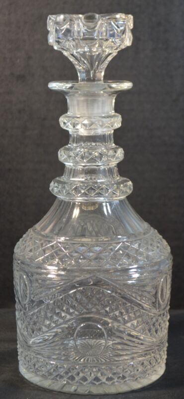 Antique Cut Crystal Decanter
