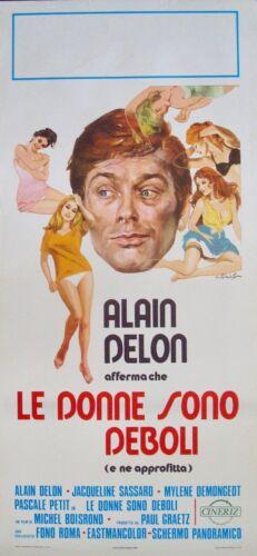 3 MURDERESSES FAIBLES FEMMES Italian locandina movie poster ALAIN DELON R1973 NM