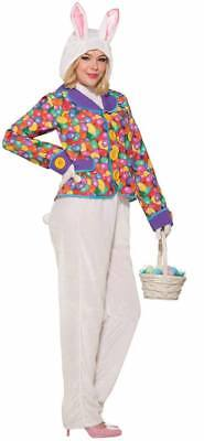 Easter Bunny Suit with Jacket Unisex Adult Costume - - Adult Bunny Costumes