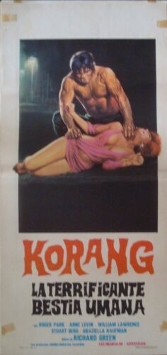 NIGHT OF THE BLOODY APES Italian Locandina movie poster RENE CARDONA 1969