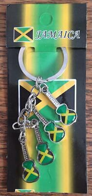 JAMAICA FLAG GUITAR KEY RING BRAND NEW GREAT GIFT ITEM FREE SHIPPING FROM USA !!